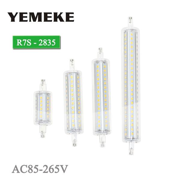 R7S Lâmpada LED Bulbo 5 w 8 w 10 w 13 w SMD 2835 Lâmpadas de Milho LEVOU 360 Graus 78 118 135 189mm Lanterna AC85-265V Substituir Halogéneo