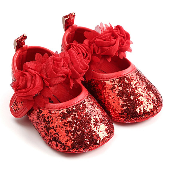 Spring Summer Baby Girl The First Walker Small Flower Princess Shoes Newborn Slip Breathable Toddler Shoes