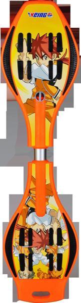 Orange Farbe Zwei Räder Skateboard Dynamische Drache Schlange Longboard Vigor Board Swing Roller für Erwachsene Kinder