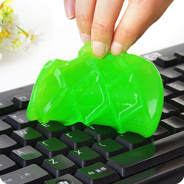 2017 Super Dust Cleaning Glue Toy Slimy Gel Wiper For Keyboard Laptop Car Cleaning Sponge Car Accessories magic slime