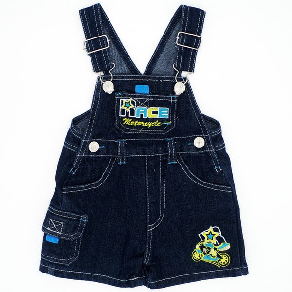 Motorcycle Pattern Random Color 4 Size Baby Boys Girls Bib Pants Children Sling Cartoon Infant Jeans Kids Clothing JJYZ131