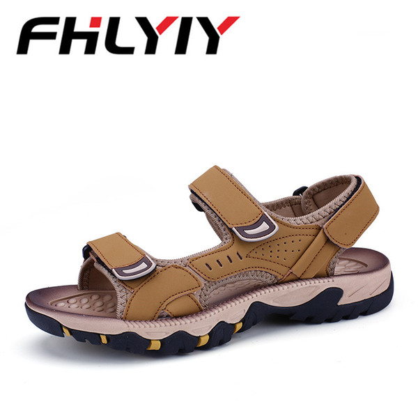 73982fac192d Unisex Leather Sandals Men Beach Sandals Men Sneakers Casual Shoes Slippers  Flip Flops Genuine Split Leather