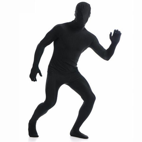 Ensnovo Hommes Lycra Full Body Costume Zentai Costumes Second Skin Tight Costumes Spandex Nylon Body Unisexe Halloween Cosplay Costume