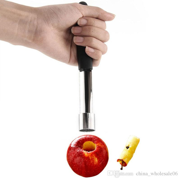 New 1Pcs Wholesale Stainless Easy Steel Twist Fruit Core Seed Remover Apple Corer Seeder Kitchen Gadgets Tools