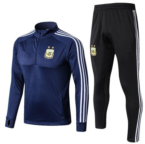 Arjantin eşofman Eğitim takım 2018 dünya kupası Arjantin Mavi futbol SUIT Messi Aguero CHANDAL takım PARLAK SPORCUK