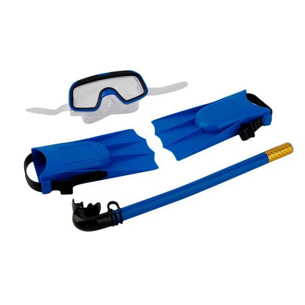 1Set For Kids Snorkeling Diving Mask Breathing Tube Long Fins Foot Flippers 3Pcs Snorkels Set Swimming Pool Training Equipment