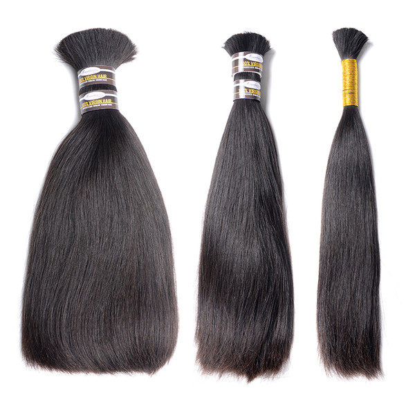 10A 100% Human Hair Bundles Brazilian Straight Hair Weave 3 Piece 8-28 Inches Natural Black Remy Hair Extensions