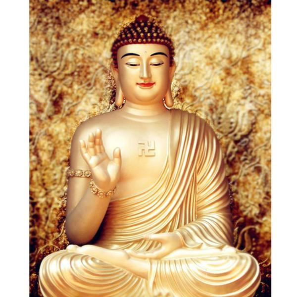 Diamante Ricamo Artigianato Ricamo Pittura Diamante Diy Buddha Pieno Quadrato Orientale Dio Drill Mosaico Decorazione Immagine
