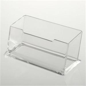 2016 Hot Sale Business Card Holders Practical Precision Fine Clear Plastic Desktop Display Stands Note Holders Box