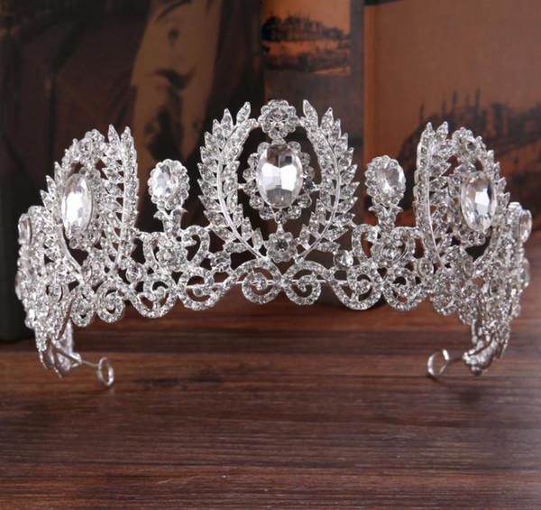 Compre Gorros Nupciales Barroco Exquisito Crown Princess Bride
