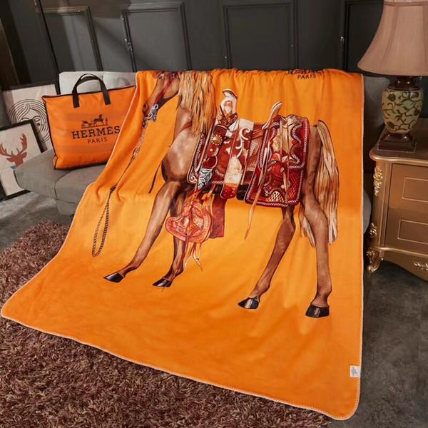 H-Brief-Berber-Fleece-Decke Winter verdicken neue orange doppelte Textur-Decke halten warme Nickerchen-Decke