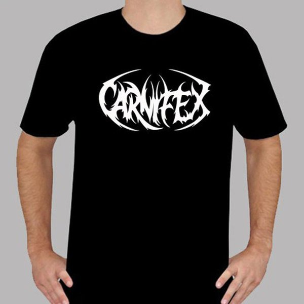 Nuovo t-shirt con scollo tondo con colletto tondo da uomo in pelle Death Metal CARNIFEX
