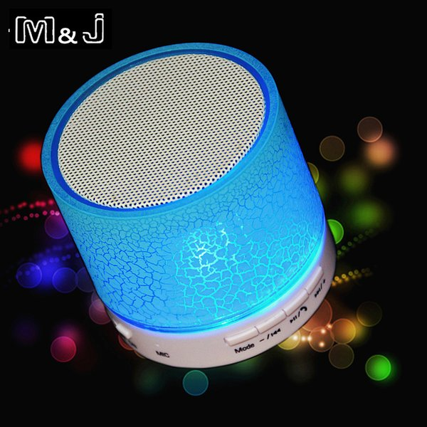 Portable Mini LED Bluetooth Speakers Wireless Small Music Audio TF USB FM Light Stereo Sound Speaker For Phone With Mic