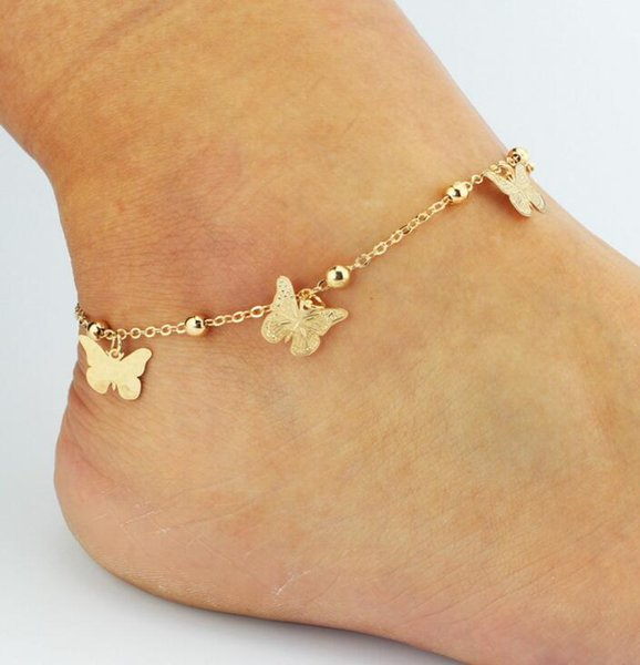 DHL Barefoot Sandals For Wedding Shoes Sandel Anklet Chain Gold Toe Ring Beading Wedding Bridal Bridesmaid Foot Jewelry