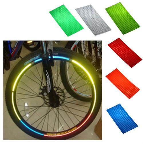 Bicycle Reflective Sticker Bike Wheel Rim DIY Light Decal Stickers Cycling Safe Protector Accessories 6 Colors NY030