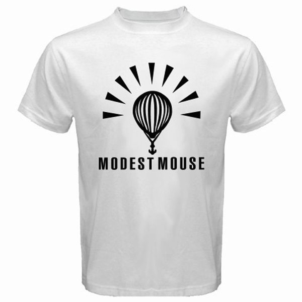 Vintage Tees Crew Neck Regular Short Mens New Modest Mouse Alternative Rock Band Men's White T-Shirt Size S to 3XL Tee Shirt