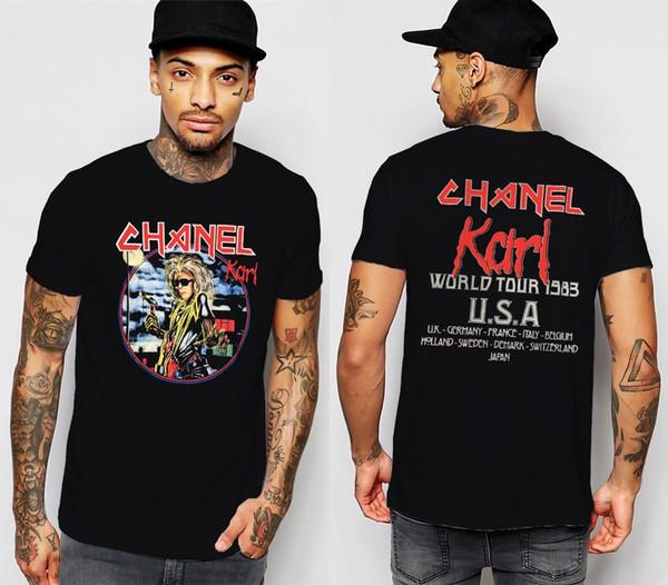 IRON MAIDEN T Shirt Lager Karl à manches courtes en coton S à XXL Teenage coton naturel imprimé 100% coton Tee Shirt pour hommes