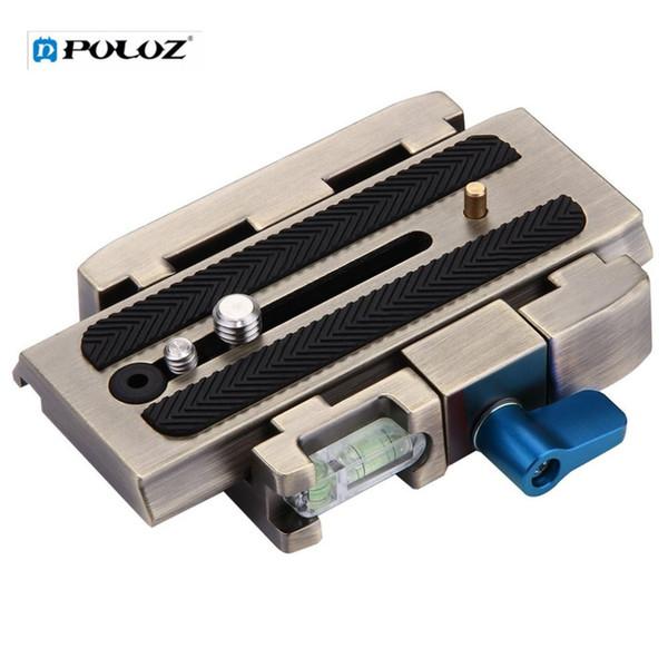 PULUZ Durable Camera Quick Release Plate Clamp 1/4'' Screw Tripod Monopod Quick Release Adapter 3/8'' Screw