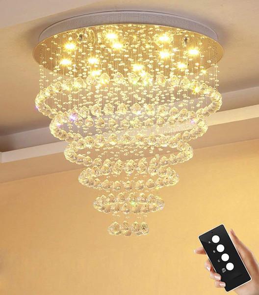 Großhandel Led 3 Helligkeit Wohnzimmer Runde Kristall Lampe