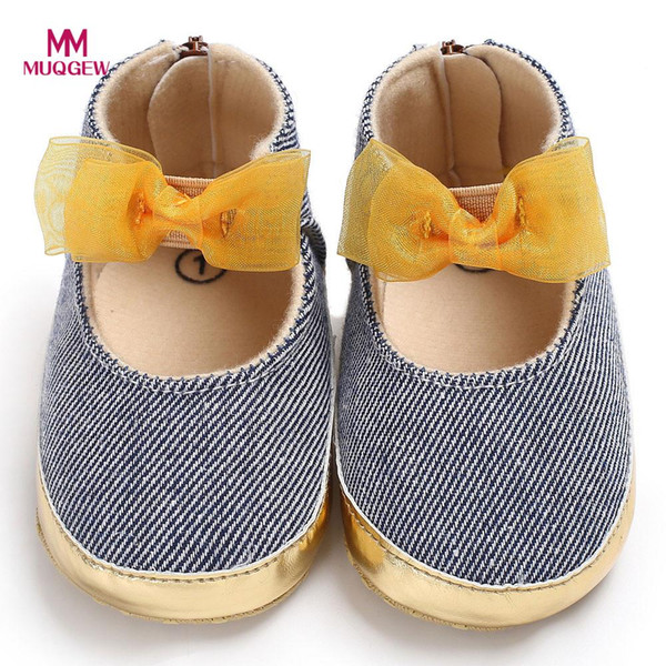 MUQGEW Toddler Shoes Baby Infant Kids Girl Soft Sole Crib Newborn shoes Kawaii Butterfly-knot Solid Winter Shoe For Babies Girls