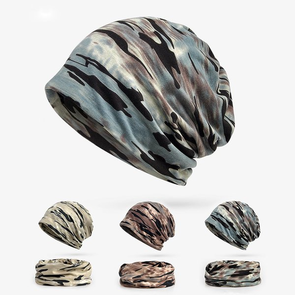 autumn winter hats for women men camo beanie 3 in 1 cotton hat scarf face mask boys girls tactical camouflage cap thumbnail