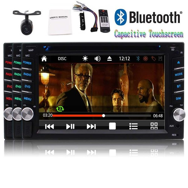 6.2'' Double Din Car Stereo Car DVD Player 1080P Video Autoradio Bluetooth NO-GPS Stereos USB TF FM/AM RDS SWC Remote Control+Camera
