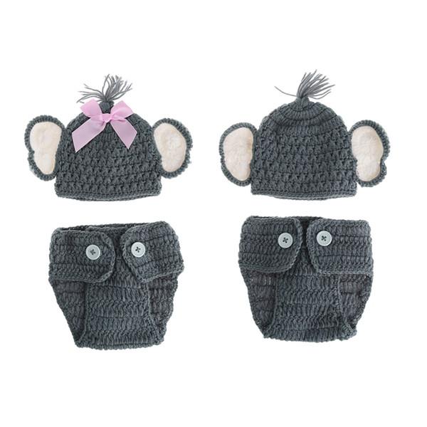 Compre Buena Calidad Bebé Recién Nacido Elefante De Punto Crochet ...