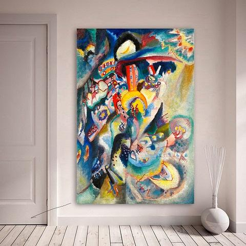2019 Embelish Wassily Kandinsky Handpainted Hd Print Famous Abstract Art Oil Painting On Canvas Home Deco Multi Sizes Frame Options L126 From