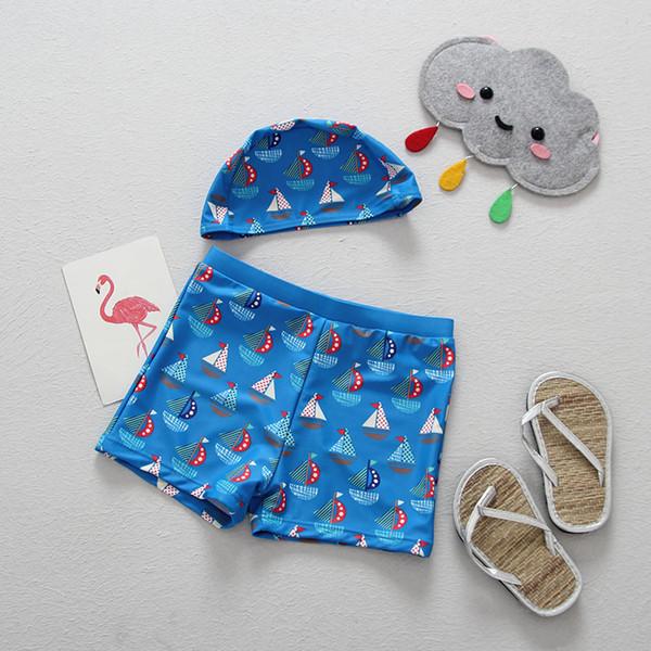 2018 Shorts Boys Swimwear Children Board Shorts Boys Sports Pool Swimming Trunks Kids Clothing Quick Drying Beach Short Pants