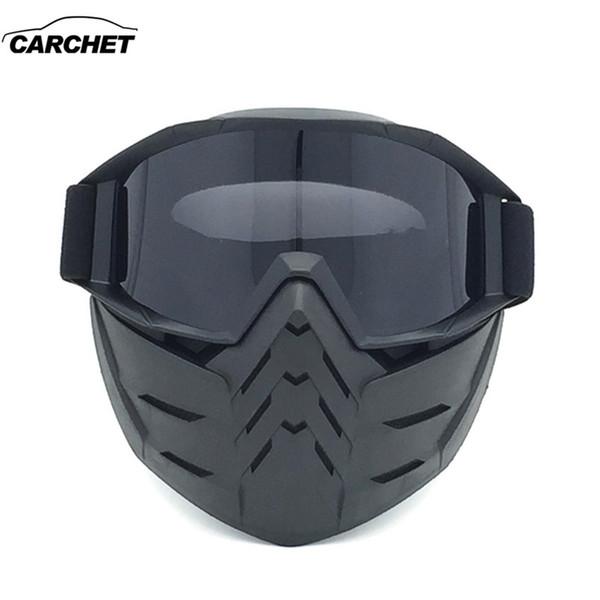 CARCHET Vintage Winter Motorrad Helm Maske Racing Schnee Skis Motocross Goggles Gläser Snowmobile Gesichtsmasken Weihnachtsgeschenke
