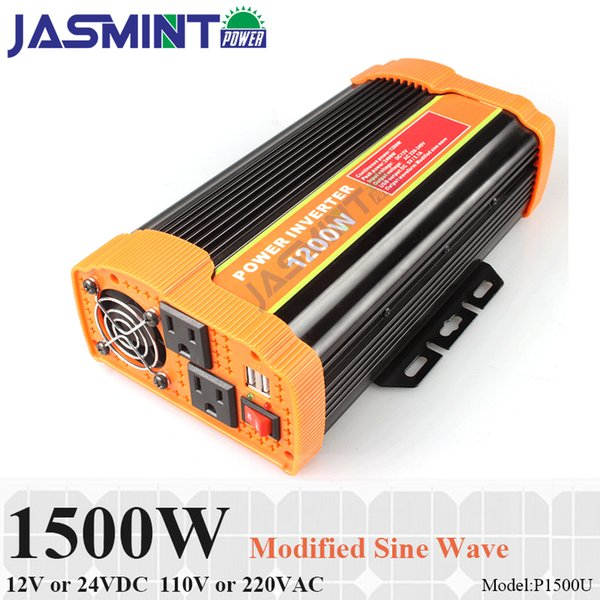 Car Power Inverter 12V DC 110V AC Modified Sine Wave 1500W Peak 3000W Adapter US