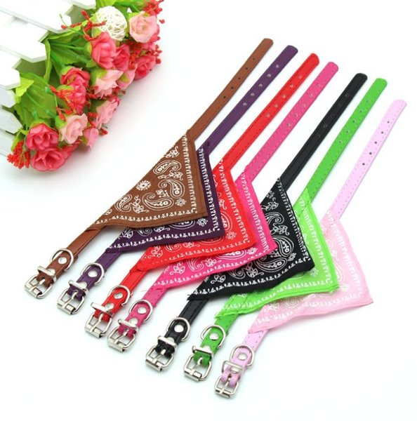 Pet Dog Collar Puppy Cat Neck Scarf Bandana Neckerchief Collar Adjustable Lovely Fashion Triangle collar Mix colors free shipping cat