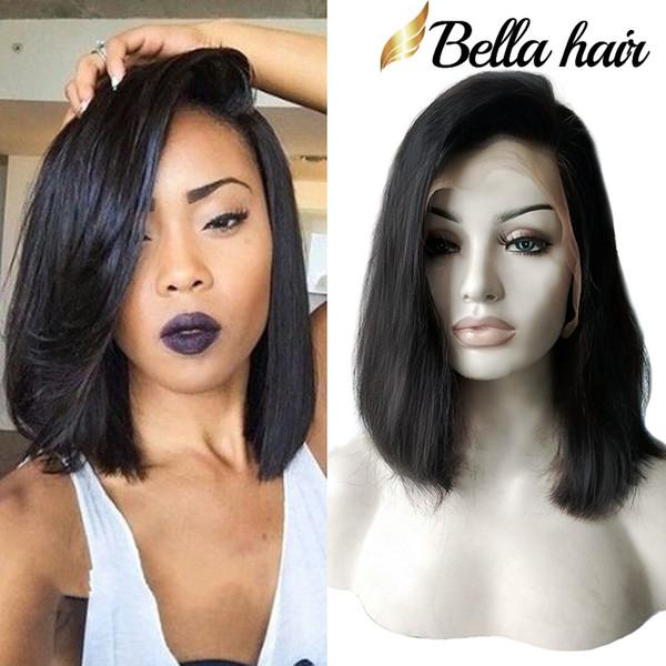 best selling Bella Hair® Glueless Wigs Bob Cut Wigs Human Hair Bob Full Lace Wig For Black Women Full Cuticle Short Bob Lace Wigs FreeShipping