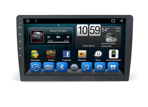 10.1 pulgadas Single Din Universal dvd del coche multimedia gps navegación Cámara de respaldo Entrada / Control del volante