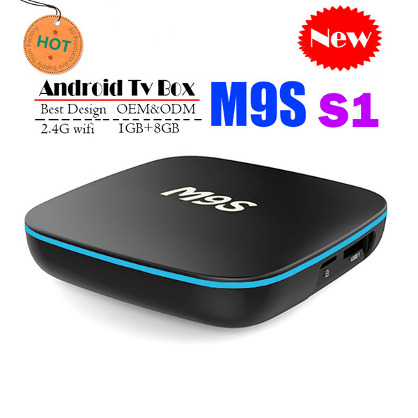 2018 Cheapest M9S S1 Android 7.1 Tv Box Quad Core 1GB 8GB H3 Chip Support Wifi 4K 3D Media Player Smart Tv Box Better A95X TX3 X96 H96 S905W