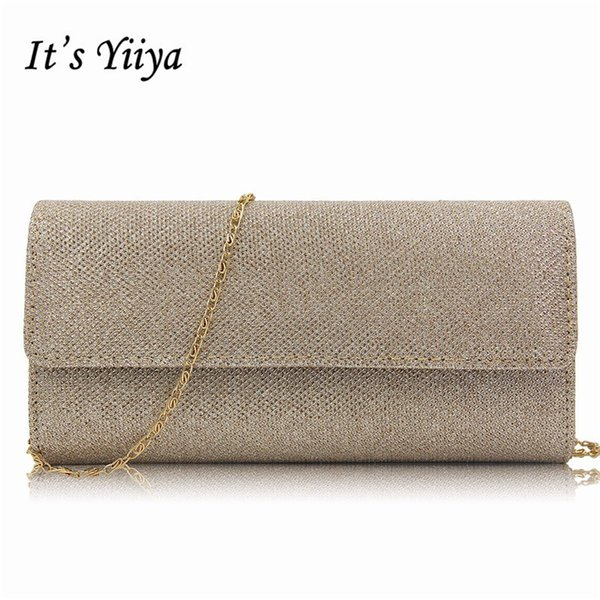 It's Yiiya 4 Colors Sales Fashion Designer Lady Style Party Dinner Bags Chains Prom Day Clutches Evening Bag WY8005