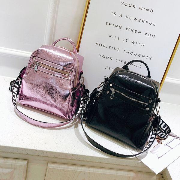 2018 New Backpack Women Leather School Backpack for Teenagers Ladies Casual Cute Girl Rucksack Bookbags Mochila Feminina