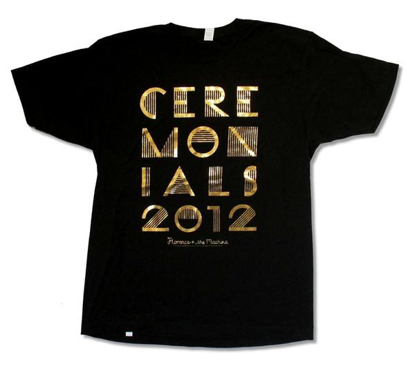 FLORENCE + THE MACHINE GOLD FOIL TOUR 2012 CA-IL BLACK T-SHIRT NEW OFFICIAL colour jurney Print t shirt