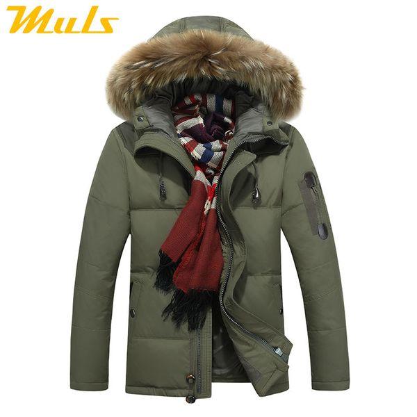 Down jacket men faux fur coat Casual Men Fur Hood Winter Jacket Windproof Thick Winter Brand-clothing Outerwear Parkas 8232