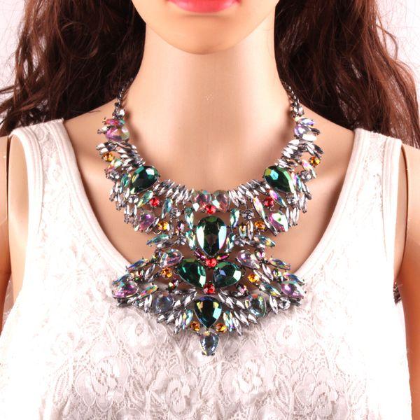 Великолепный 4 цвета Женщины заявление ожерелье, ювелирные изделия тела Ожерелье для женщин новизна костюм ювелирные изделия 1 шт.