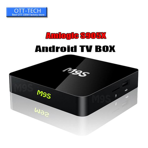 M9S X1 1GB 8GB 4K Smart Android TV BOX 2.4GHz WiFi Media Player Support 100M Cable Network Better X96 TX3 MINI S905W Factory OEM ODM