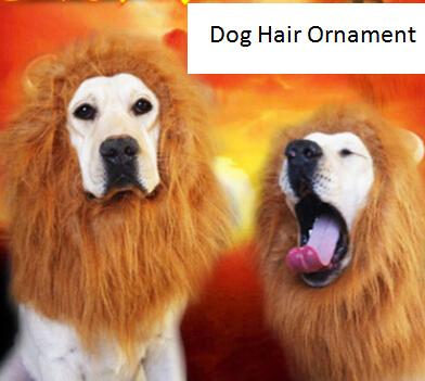 Pet Dog Hair Ornament Dog Lion Mane Parrucca Halloween Dog Cat Costumi Divertente Pet Dress Up Clothes
