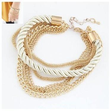 fashion low-key luxury woven rope chain bracelet bracelet accessories female Korean multi personality