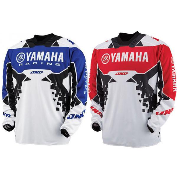 Nueva Llegada 2018 Tops Tee YAMAHA Motocross jersey Downhill transpiración Wicking T-shirts cross country mountain YAMAHA T-shirts