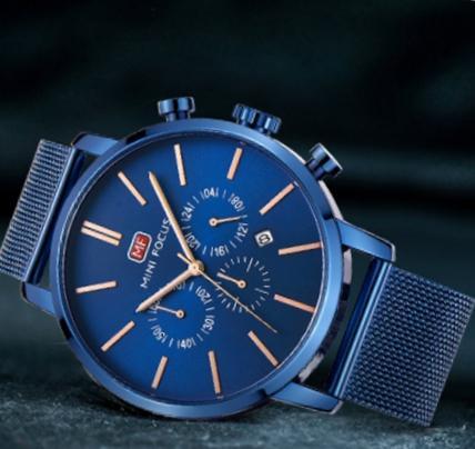 MINIFOCUS Fashion Men Watches 2018 Top Brand Leather Sport Quartz Watch Luxury Famous Male Clock Montre Homme Relogio Masculino