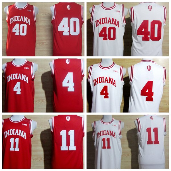 a6569e616ae College Basketball Jerseys Indiana Hoosiers 4 Victor Oladipo 11 Isiah Thomas  40 Cody Zeller Shirt Uniform