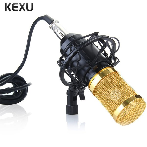 KEXU Mic Sound Recording Kit BM-800 Audio Processing Condenser Wired Microphone Wind Screen Pop Filter