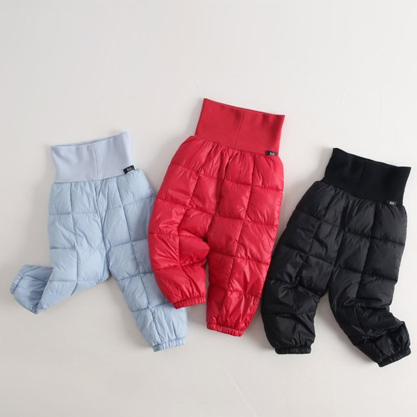 2018 Niños Pantalones Largos Niños Niñas Pantalones Abajo Pantalones para Niñas Invierno Espesar Caliente Ropa Delgada Niños Ropa de Bebé Otoño