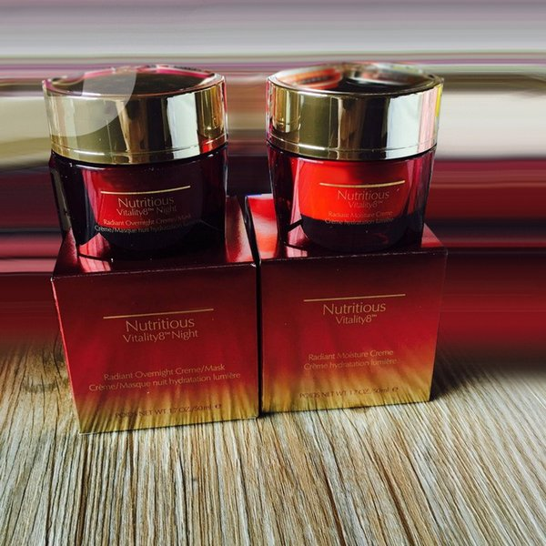 2pcs 1set Red Pomegranate V 8 Rosy Prism cream Moisturizing day and night cream free shipping