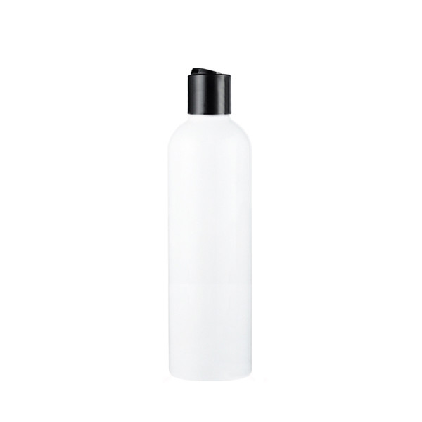20pcs/lot 300ml White Empty Plastic Bottles With Disc Top Cap,Shampoo PET Bottle With Screw Lid,Cosmetics Container